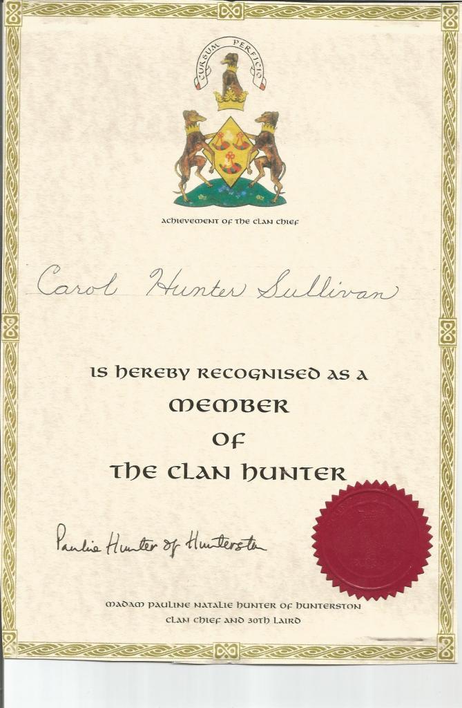 clan-hunter-certificate