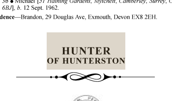 Hunter of Hunterston LG1972