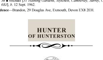 Hunter of Hunterston LG1972