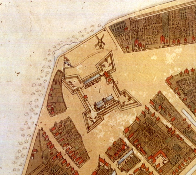 Fort Amsterdam (later Fort George), Manhattan, New Amsterdam (later New York)