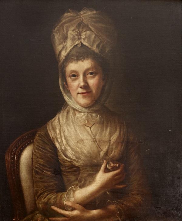 Catherine 'Kitty' Hunter, Lady Clarke by Nathaniel Hone the elder, RA (Dublin 1718 ¿ London 1784)